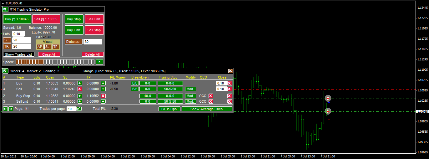Option trading simulator